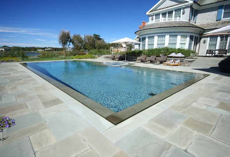 Infinity negative edge and rimless tortorella group for Pool negative edge design