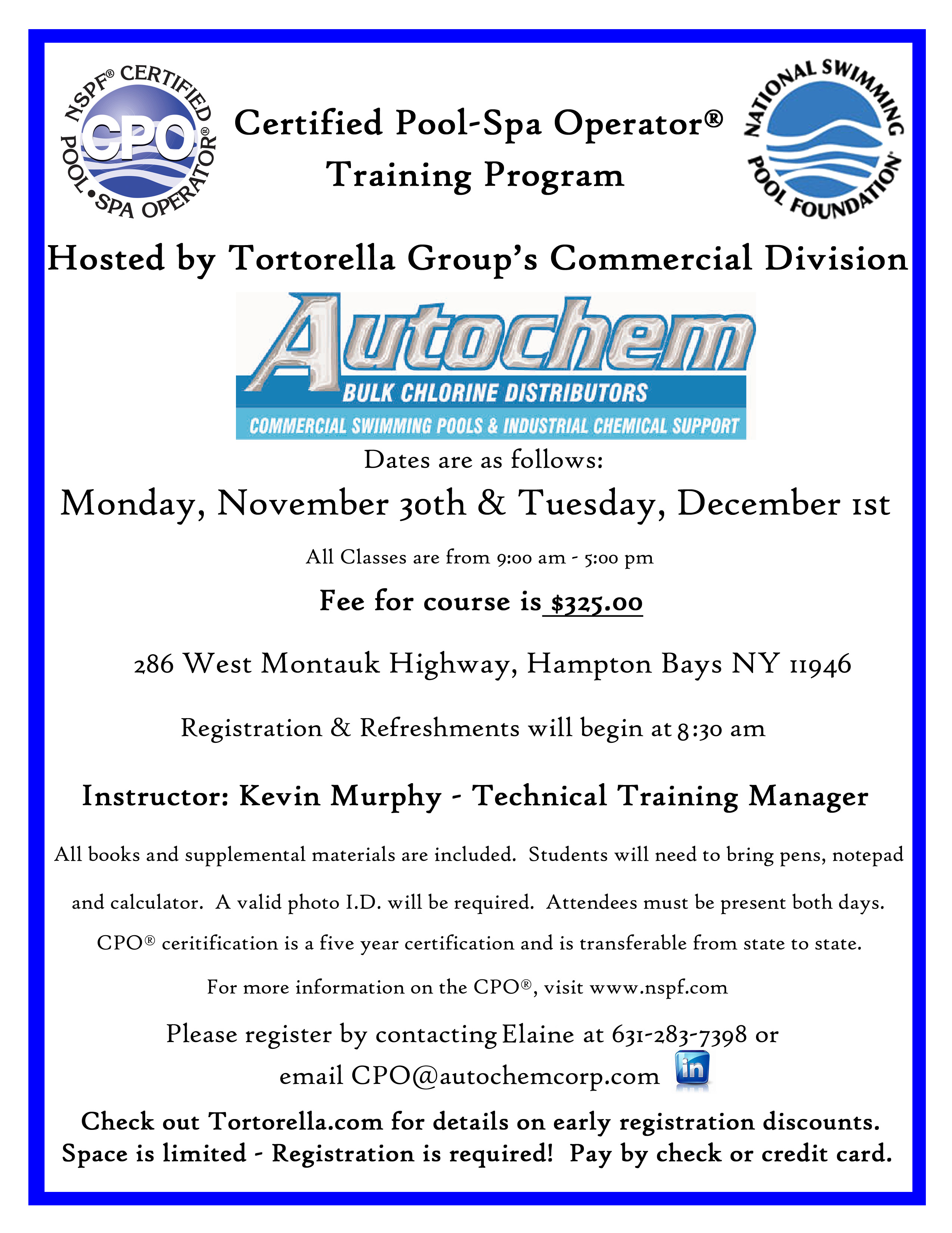 Certified pool spa operator training program being held november finalcpoflyernovember 30thdecember1st 1betcityfo Images